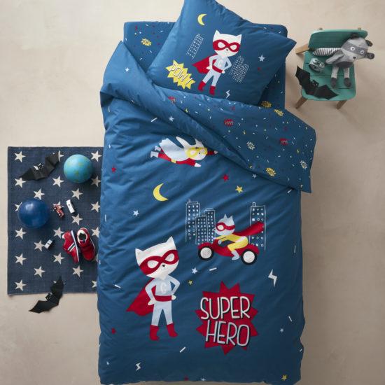 155x155 cm multicolore Tissu Kidibed Rideaux pliss/és doubl/és pour chambre denfant Gar/çons Filles Bleu
